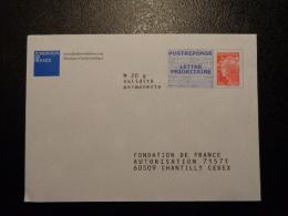 PRET A POSTER REPONSE BEAUJARD FONDATION DE FRANCE 12P276 - Entiers Postaux