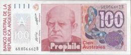 Argentinien Pick-Nr: 327b Bankfrisch 1985 100 Australes - Argentine