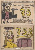 Blumenthal Notgeld: 123.1 A) 75 Pf Notgeld Der Gemeinde Blumenthal Bankfrisch 1921 75 Pfennig - Lokale Ausgaben