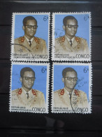 REPUBLIQUE DEMOCRATIQUE DU CONGO N°702 X 4 Oblitéré - Vrac (max 999 Timbres)