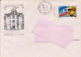 62 - Tampon De BERCK SUR MER Sur Enveloppe Illustrée De Berck Plage, Timbre La Victoire - 1961-....