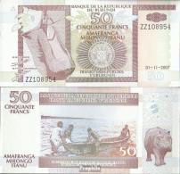 Burundi Pick-Nr: 36g Bankfrisch 2007 50 Francs - Burundi