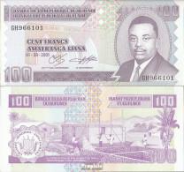 Burundi Pick-Nr: 37c Bankfrisch 2001 100 Francs - Burundi