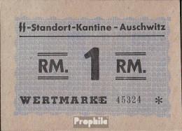 Deutsches Reich Wertmarke Kantine-Auschwitz Bankfrisch 1 Reichsmark - Non Classés