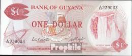 Guyana Pick-Nr: 21e Bankfrisch 1983 1 Dollar - Guyana Francese