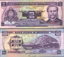 Honduras Pick-Nr: 61 Bankfrisch 1976 2 Lempiras - Honduras