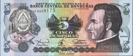 Honduras Pick-Nr: 63d Bankfrisch 1994 5 Lempiras - Honduras
