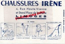 87 - LIMOGES - BUVARD CHAUSSURES IRENE- 4 RUE HAUTE VIENNE - PLACE DE LA MOTTE- LE HERON - Chaussures