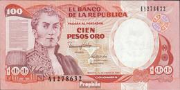 Kolumbien Pick-Nr: 426e (1991) Bankfrisch 1991 100 Pesos Oro - Colombia