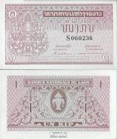 Laos Pick-Nr: 8a, Signatur 4 Bankfrisch 1962 1 Kip - Laos