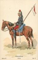 Dragons - Uniformes - ** Dragon -1914 ** - Illustrateur Maurice Toussaint - édition Militaire- Série III, N° 9 - War 1914-18