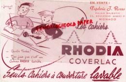 MONACO - BUVARD CAHIERS RHODIA- COVERLAC- PEPETERIE J. ROSSO-PALAIS MAJESTIC 23 BD ALBERT 1ER - Unclassified