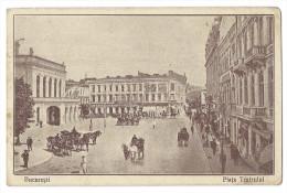 BUCAREST(Roumanie) - La Place Du Théâtre National Qui Fut Détruit Par Les Bombardements De 1944 - Animée - Roumanie