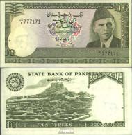 Pakistan Pick-Nr: 34 Bankfrisch 1981 10 Rupees - Pakistan