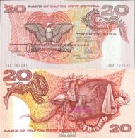 Papua-Neuguinea Pick-Nr: 10a Bankfrisch 20 Kina Vogel - Papouasie-Nouvelle-Guinée