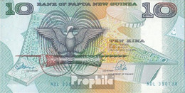 Papua-Neuguinea Pick-Nr: 9b Bankfrisch 1988 10 Kina - Papua New Guinea