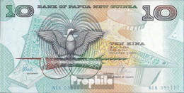 Papua-Neuguinea Pick-Nr: 9d Bankfrisch 1988 10 Kina - Papouasie-Nouvelle-Guinée