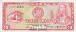Peru Pick-Nr: 100b (1971) Bankfrisch 1971 10 Soles - Peru