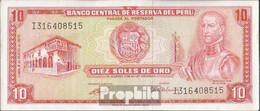 Peru Pick-Nr: 100c (1972) Bankfrisch 1972 10 Soles - Peru