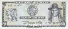 Peru Pick-Nr: 101c (08/1974) Bankfrisch 1974 50 Soles Oro - Peru
