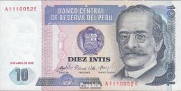 Peru Pick-Nr: 128 (1985) Bankfrisch 1985 10 Intis - Peru