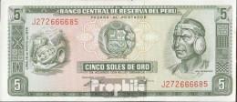 Peru Pick-Nr: 99c (05/1974) Bankfrisch 1974 5 Soles - Peru