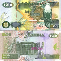 Sambia 36b Bankfrisch 1992 20 Kwacha Seeadler - Zambie