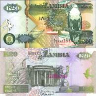 Sambia Pick-Nr: 36a Bankfrisch 1992 20 Kwacha Seeadler - Sambia