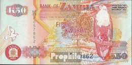 Sambia Pick-Nr: 37f Bankfrisch 2007 50 Kwacha - Zambia