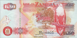 Sambia Pick-Nr: 37g Bankfrisch 2008 50 Kwacha - Zambie