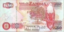 Sambia Pick-Nr: 37h Bankfrisch 2009 50 Kwacha - Zambie