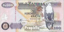 Sambia Pick-Nr: 38j Bankfrisch 2011 100 Kwacha - Sambia