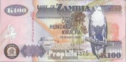 Sambia Pick-Nr: 38g Bankfrisch 2008 100 Kwacha - Zambie