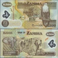 Sambia Pick-Nr: 43d Bankfrisch 2005 500 Kwacha - Zambie
