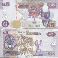 Sambia Pick-Nr: 50a Bankfrisch 2012 5 Kwacha - Sambia