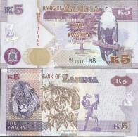 Sambia Pick-Nr: 50a Bankfrisch 2012 5 Kwacha - Zambie