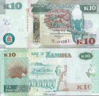 Sambia Pick-Nr: 51a Bankfrisch 2012 10 Kwacha - Zambie