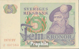 Schweden Pick-Nr: 51d (1978) Bankfrisch 1978 5 Kronor - Sweden