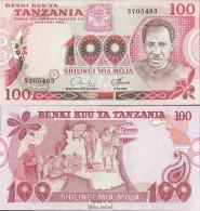 Tansania Pick-Nr: 8a Bankfrisch 1977 100 Shilingi - Tanzanie