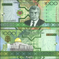Turkmenistan Pick-Nr: 20 Bankfrisch 2005 1.000 Manat - Turkménistan