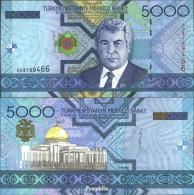 Turkmenistan Pick-Nr: 21 Bankfrisch 2005 5.000 Manat - Turkménistan