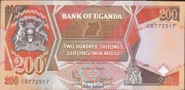 Uganda Pick-Nr: 32b (1991) Bankfrisch 1991 200 Shillings - Ouganda