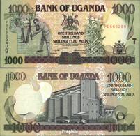 Uganda Pick-Nr: 39b Bankfrisch 2003 1.000 Shillings - Uganda