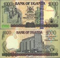 Uganda Pick-Nr: 43a Bankfrisch 2005 1.000 Shillings - Uganda