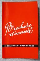 B10 / 1956 - Brochure d'accueil s.a. des charbonnages de Monceau Fontaine - Mine Mineur - Monceau Sur Sambre - Charleroi