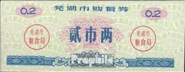 Volksrepublik China Blau C Chinesischer Reisgutschein Bankfrisch 1983 0,2 Jin - China