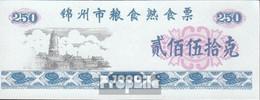 Volksrepublik China Blau Chinesischer Lebensmittelgutschein Bankfrisch 1990 250 Jiao - China