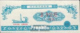 Volksrepublik China Blau Chinesischer Lebensmittelgutschein Bankfrisch 1991 0,5 Jiao - China