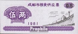 Volksrepublik China Chinesischer Reisgutschein Bankfrisch 1981 0,5 Jin Staudamm - China