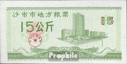 Volksrepublik China Chinesischer Reisgutschein Bankfrisch 1989 15 Jin - China